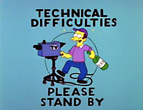 Sorry! We've been experiencing technical difficulties