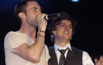 Rob & Maroon 5 Performing Live