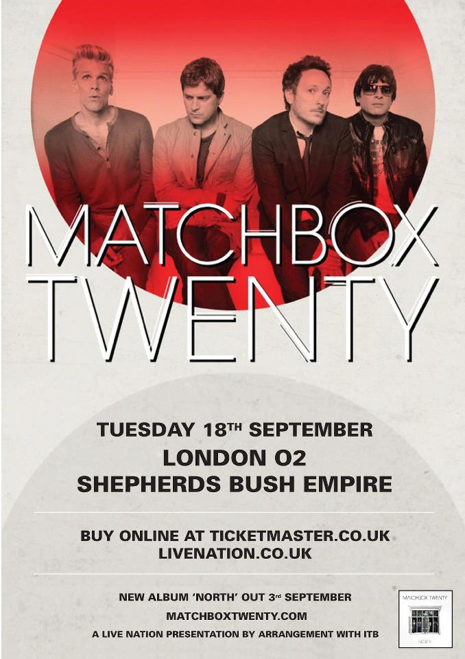 Matchbox Twenty to play London 2012